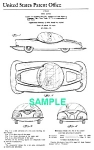 Click here to enlarge image and see more about item PAT1220CC1: Patent: 1950s MARX TOY CAR/Bubble Roof