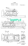 Click here to enlarge image and see more about item PAT1220CC3: Patent: 1930s MARX Toy Self-Reversing TRACTOR