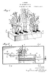 Patent: 1920s MARX Tin Toy-Black Music Band