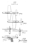 Click here to enlarge image and see more about item PAT1220CC5: Patent Art: 1950s MARX AIRPLANE Toy Water Gun