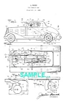 Click here to enlarge image and see more about item PAT1221AA8: **Patent: 1930s MARX G-Man PURSUIT CAR Toy**