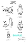Click here to enlarge image and see more about item PAT1225BB5: Patent Art: 1950s DUCK RAMP WALKER TOY - matted
