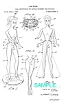 Click here to enlarge image and see more about item PAT1225CC4: Patent: 1966 BARBIE DOLL No. 2 - Matted Print