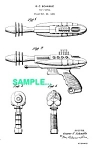 Click here to enlarge image and see more about item PAT1227AA2: Patent Art: 1950s PYROTOMIC DISINTEGRATOR Ray Gun