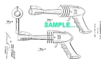 Click here to enlarge image and see more about item PAT1227AA4: Patent Art: 1950s STRATO GUN Space Ray Gun