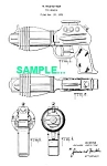 Click here to enlarge image and see more about item PAT1227AA5: Patent Art: 1950s FLASH GORDON Water Pistol - Marx Toy