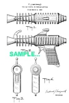 Click here to enlarge image and see more about item PAT1227AA6: Patent Art: 1950s ATOMIC JET Ray Gun