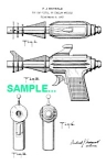 Click here to enlarge image and see more about item PAT1227AA8: Patent Art: 1950s New Space Police NEUTRON BLASTER