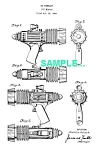 Click here to enlarge image and see more about item PAT1227AA9: Patent Art: 1950s TOM CORBETT Atomic Pistol - Marx