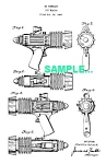 Click here to enlarge image and see more about item PAT1227AA9B: Patent Art: 1950s SPACE PATROL Atomic Pistol - Marx