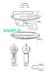 Click here to enlarge image and see more about item PAT1228AA1: Patent Art: 1950s SPACE WATER Gun Ray Gun