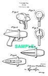 Click here to enlarge image and see more about item PAT1228AA4: Patent Art: 1950s Nu Age Prod. Toy SMOKE RING GUN