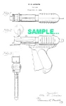 Click here to enlarge image and see more about item PAT1228AA6: Patent Art: 1930s PAPER POP GUN Toy - Langson