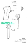 Click here to enlarge image and see more about item PAT1228AA7: Patent Art: 1940s ATOM-MATIC WATER ROCKET Toy Gun