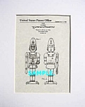 Click here to enlarge image and see more about item PAT1228AB13: Patent Art: 1960s Marx BIG LOO Lou Toy Robot - matted