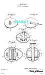 Click here to enlarge image and see more about item PAT1228AB15: Patent Art: 1920s FIGURAL EGG Sewing TAPE MEASURE