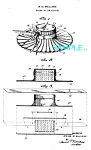 Click here to enlarge image and see more about item PAT1228AB16: Patent Art: 1940s FIGURAL HAT Sewing PIN CUSHION
