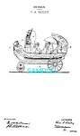 Click here to enlarge image and see more about item PAT1228AB3: Patent Art: 1890s J & E Stevens Co. WHEELED BOAT TOY