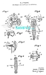 Click here to enlarge image and see more about item PAT1228AB9: Patent Art: 1950s Gyro TOY MOTORCYCLE - matted