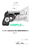 Click to view larger image of Patent Art: 1930s Cardboard TOY GUN - matted (Image1)