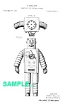 Click here to enlarge image and see more about item PAT1228BB2: Patent Art: 1950s WESTINGHOUSE ROBOT - matted