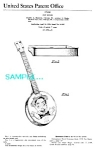 Click to view larger image of Patent Art: 1950s EDDIE CANTOR Toy Banjo-matted (Image1)