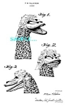 Patent Art: 1950s KUKLA, FRAN & OLLIE Character -matted