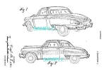 Click here to enlarge image and see more about item PAT205B4: 1949 STUDEBAKER STARLIGHT COUPE Artwork