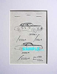 Click here to enlarge image and see more about item PAT205C1: Patent Art: 1952 CHRYSLER GHIA K-310 Exp. Dream Car
