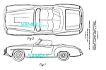 Patent Art: 1955 MERCEDES 190SL AUTOMOBILE