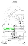 Click here to enlarge image and see more about item PAT608AA1: Patent Art: 1800s CRITERION DISK MUSIC BOX - matted