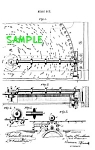 Click here to enlarge image and see more about item PAT608AA2E: Patent Art: 1800s REGINA DISK MUSIC BOX-matted