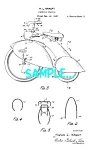 Click here to enlarge image and see more about item PAT702A1: Patent Art: Awesome 1930s  Flared Fender TRICYCLE