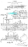 Click here to enlarge image and see more about item PAT901A1: Patent Art: 1937 PIRSCH TILLERMANS SEAT LADDER TRUCK