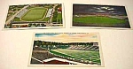 Lot of 3 Vintage FOOTBALL STADIUM Postcards