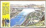 Click here to enlarge image and see more about item PC0715A3: WWII Military COULEE DAM, WASHINGTON Postcard