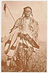 Click here to enlarge image and see more about item PC0715B9: 1977 BLACKFEET INDIAN Postcard-Museum