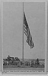 Click here to enlarge image and see more about item PC1031A4: FORT GEO G MEADE Old Glory Flag Army Postcard