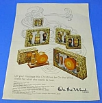 Click here to enlarge image and see more about item PERF531AA2: 1969 ON THE WIND Perfume Vanity Sets Ad