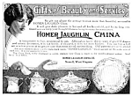 Click here to enlarge image and see more about item POT0122A1: 1913 HOMER LAUGHLIN CHINA Mag. Ad