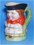 Click here to enlarge image and see more about item POT0516AA5: TINY Full Figure Toby Jug FEMALE