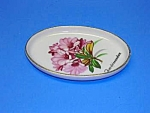 Click here to enlarge image and see more about item POT0516CC1: Lovelty Vint. Porcelain FLORAL Vanity PIN TRAY