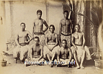 c.1890 Group Shirtless HAWAIIAN MEN Photo-GAY INTEREST
