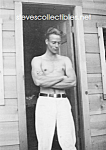 1930s HANDSOME Shirtless Man Doorway Photo-GAY INTEREST
