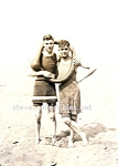1915 Affectionate Male Swimsuit Couple Photo - GAY INT.