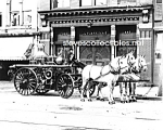 Click here to enlarge image and see more about item PR0317B4-2007: c.1911 York, PA HORSE DRAWN FIRE ENGINE PHOTO B -8 x 10