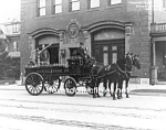 Click here to enlarge image and see more about item PR0317B6-2007: c.1911 York, PA HORSE DRAWN FIRE ENGINE PHOTO - 8 x 10