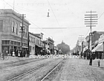 Click here to enlarge image and see more about item PR0317B9-2007: c.1909 SANTA CLARA, CALIFORNIA Street Photo - 8 x 10
