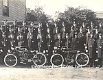 Click here to enlarge image and see more about item PR0317D2-2007: c.1914 BRIDGEPORT, CT MOTORCYCLE POLICEMEN Photo - 8x10