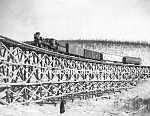 Click here to enlarge image and see more about item PR0317D3-2007: c.1916 RAILROAD BRIDGE - FOX GULCH, Alaska Photo - 8x10